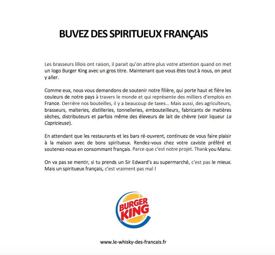 Buvez des spiritueux français